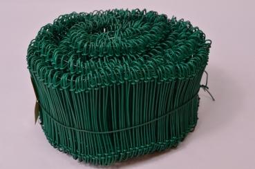 1000 Stück grün ummantelt Drahtsackverschluss 1,4 x 100mm